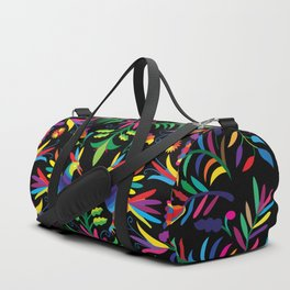 Otomi (Mexican print) - Black Duffle Bag