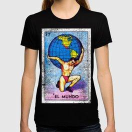 El Mundo Mexican Loteria Bingo Card T-shirt