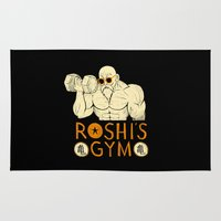 gym Area & Throw Rugs featuring roshi's gym by Louis Roskosch
