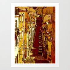 travessa da portuguesa Art Print
