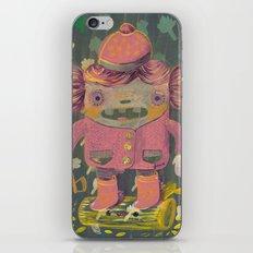 lumberjack girl portrait (sister nature's evil twin) iPhone & iPod Skin