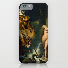 """Jean-Auguste-Dominique Ingres """"Angelica saved by Ruggiero or Ruggiero Freeing Angelica"""" iPhone Case"""
