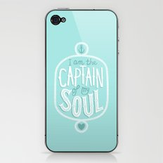 I am the Captain of my Soul iPhone & iPod Skin