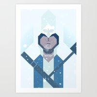 assassins creed Art Prints featuring Connor / Assassins Creed by Maxim Nikitin