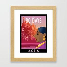 80 Days : Agra Framed Art Print