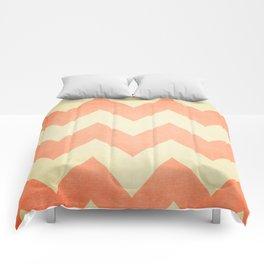 Fuzzy Navel - Peach Chevron Comforters