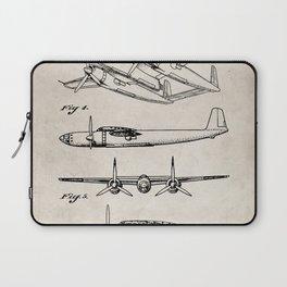 Hughes Lockheed Airplane Patent - Hughes Aviation Art - Antique Laptop Sleeve