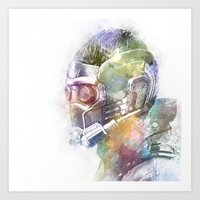 star lord Art Prints featuring Star-Lord by NKlein Design