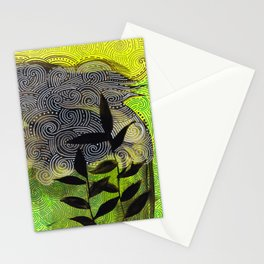 flow flower flow Stationery Cards