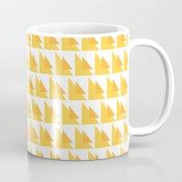 orange pattern Mugs featuring Orange Pattern by MarianaLage