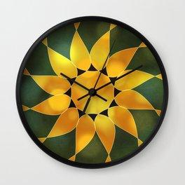 Autumn Sun Two Wall Clock