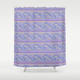 Wavy Wave Shower Curtain