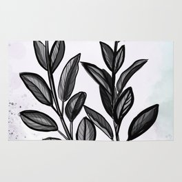 Sage Botanical Illustration Rug
