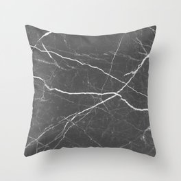 Gray marble abstract texture pattern Throw Pillow
