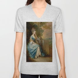 "Thomas Gainsborough ""Portrait of Anne, Countess of Chesterfield"" Unisex V-Neck"