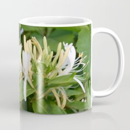 Closeup shot of Lonicera European Honeysuckle Flower Coffee Mug