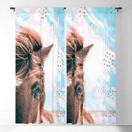 Horse horseshoes Blackout Curtain