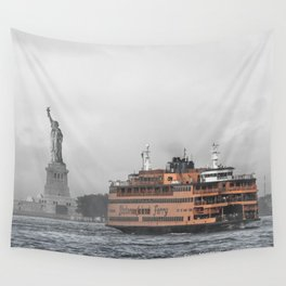 Liberty & The Boat Wall Tapestry