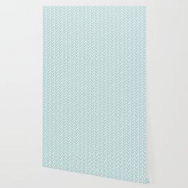 Herringbone Mint Wallpaper