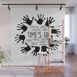 Time's Up Wall Mural
