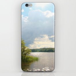 Lake view in Finland iPhone Skin