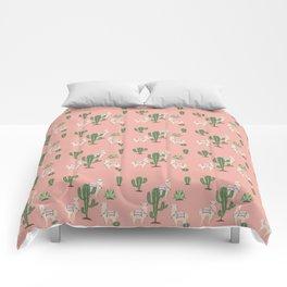 Alpaca with Cacti Comforters