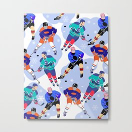 Ice Hockey print 001 Metal Print