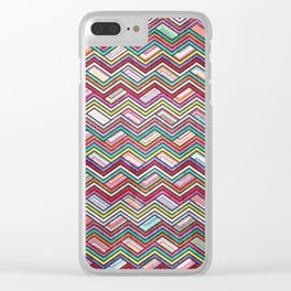 Seamless Colorful Geometric Pattern XXI Clear iPhone Case