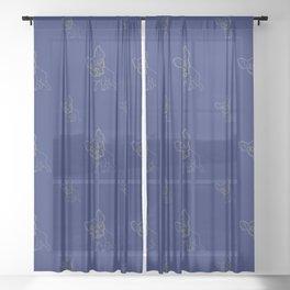 pinhole puppy Sheer Curtain