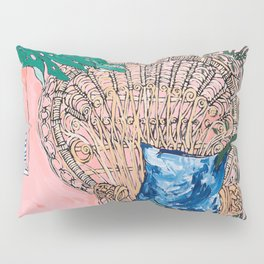 Peacock Chair in Pink Jungle Interior Pillow Sham