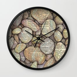 Bed of Stone Wall Clock