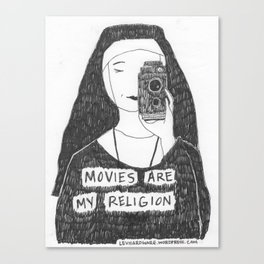 Movies Are My Religion Canvas Print