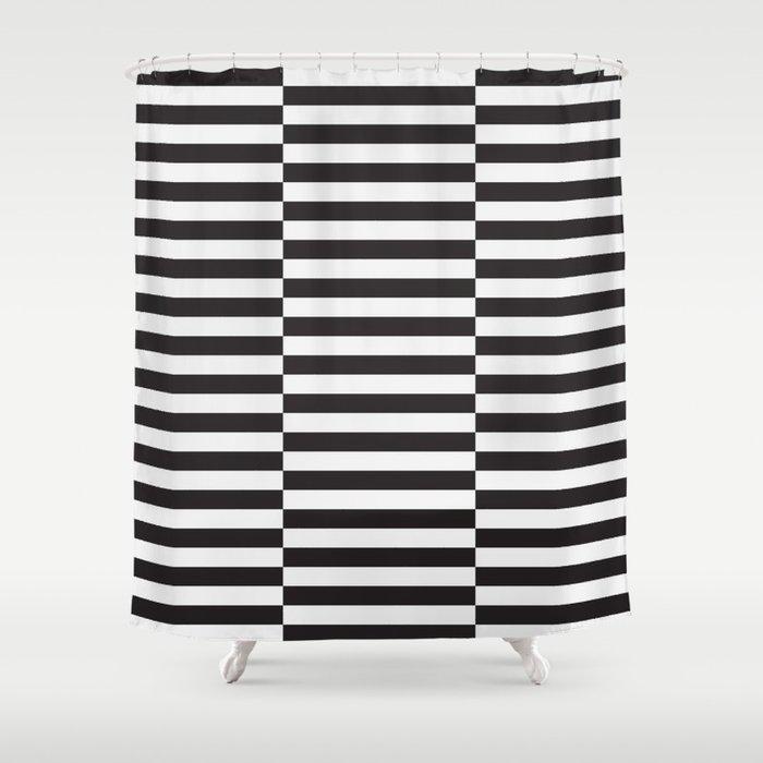 Ikea Stockholm Rug Pattern Black Stripe Shower Curtain