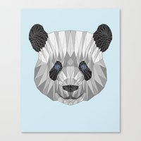 panda Canvas Prints featuring panda by Nir P