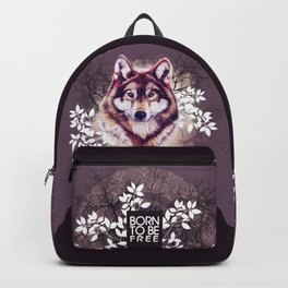 Wolf, born to be free Backpack