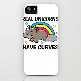 Unicorn Rhino curves obesity Sexy Gift iPhone Case