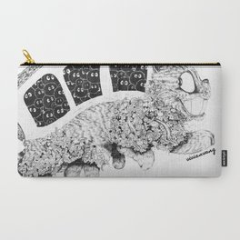 Studio Ghibli Cat Bus Black & White Zentangle Drawing Doodle Carry-All Pouch