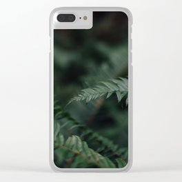 Fern in the jungle Clear iPhone Case