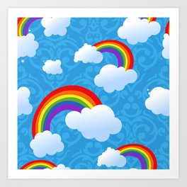 Clouds and rainbows Art Print