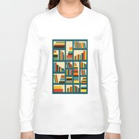 library Long Sleeve T-shirts featuring library by vitamin