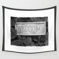 welcome Wall Tapestries featuring Welcome by TheDawn Marie™