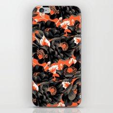 Mount Cook Lily - Orange/Black iPhone & iPod Skin
