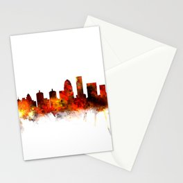 Louisville Kentucky City Skyline Stationery Cards
