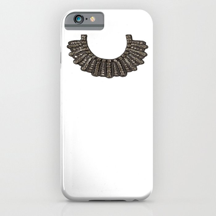 ruth bader ginsburg's dissent collar rbg iphone case