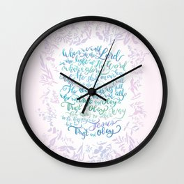Trust and Obey - Hymn Wall Clock