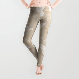 Dreamy butterflies and mandala in iced coffee Leggings