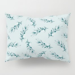 Olive branch pattern in blue Pillow Sham