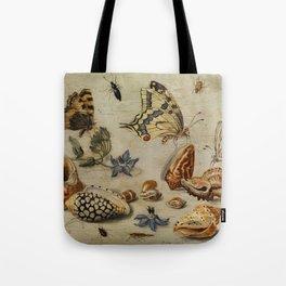 """Jan van Kessel de Oude """"Seashells, butterflies, flowers and insects"""" Tote Bag"""