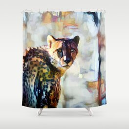Your Cheetah Eyes Shower Curtain