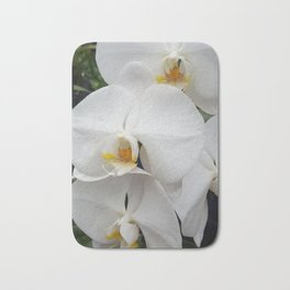 White orchid Bath Mat
